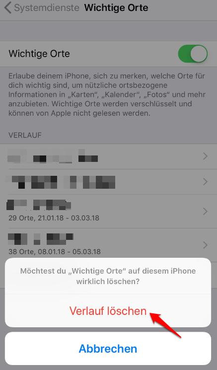 iPhone Bewegungsprofil einfach auslesen - Schritt 4