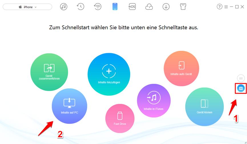 iCloud Backup nicht möglich – AnyTrans verwenden