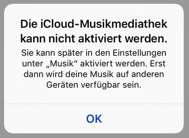 iCloud Mediathek kann nicht aktiviert werden - so fixieren