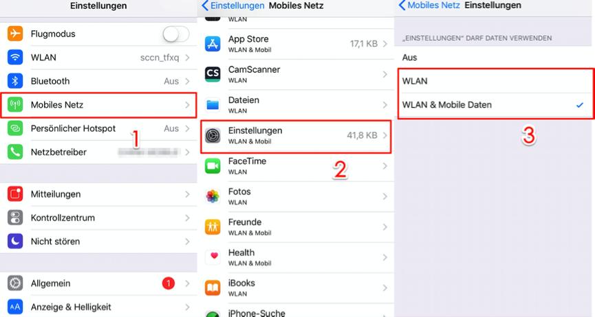 iCloud Nutzungsbedingungen können nicht akzeptiert werden