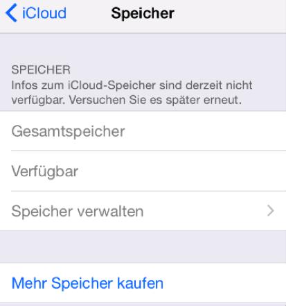 iCloud Speicher verwalten geht nicht – was tun