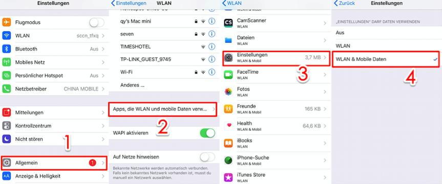 iCloud Speicher verwalten funktioniert nicht – WLAN einstellen