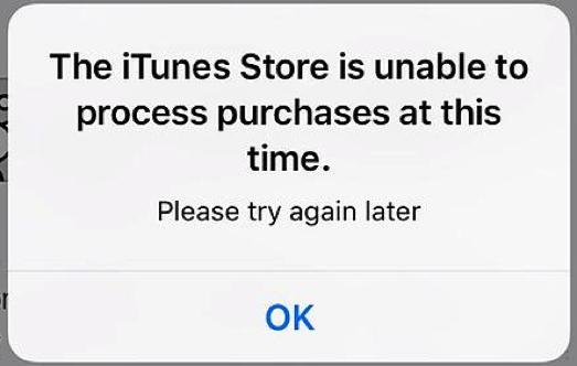 Im iTunes Store können zurzeit keine Käufe bearbeitet werden