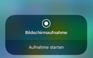 iOS 12 Bildschirmaufnahme funktioniert nicht