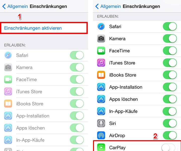 iPhone CarPlay funktioniert nicht – Einschränkungen überprüfen