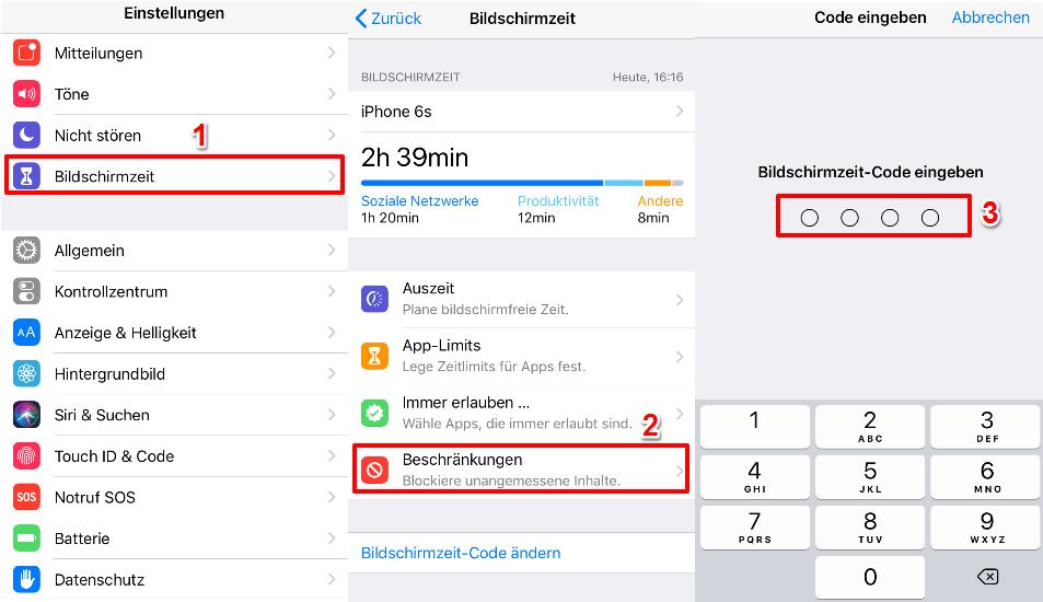 iOS 12 Einschränkungen auf iPhone aktivieren – So geht's