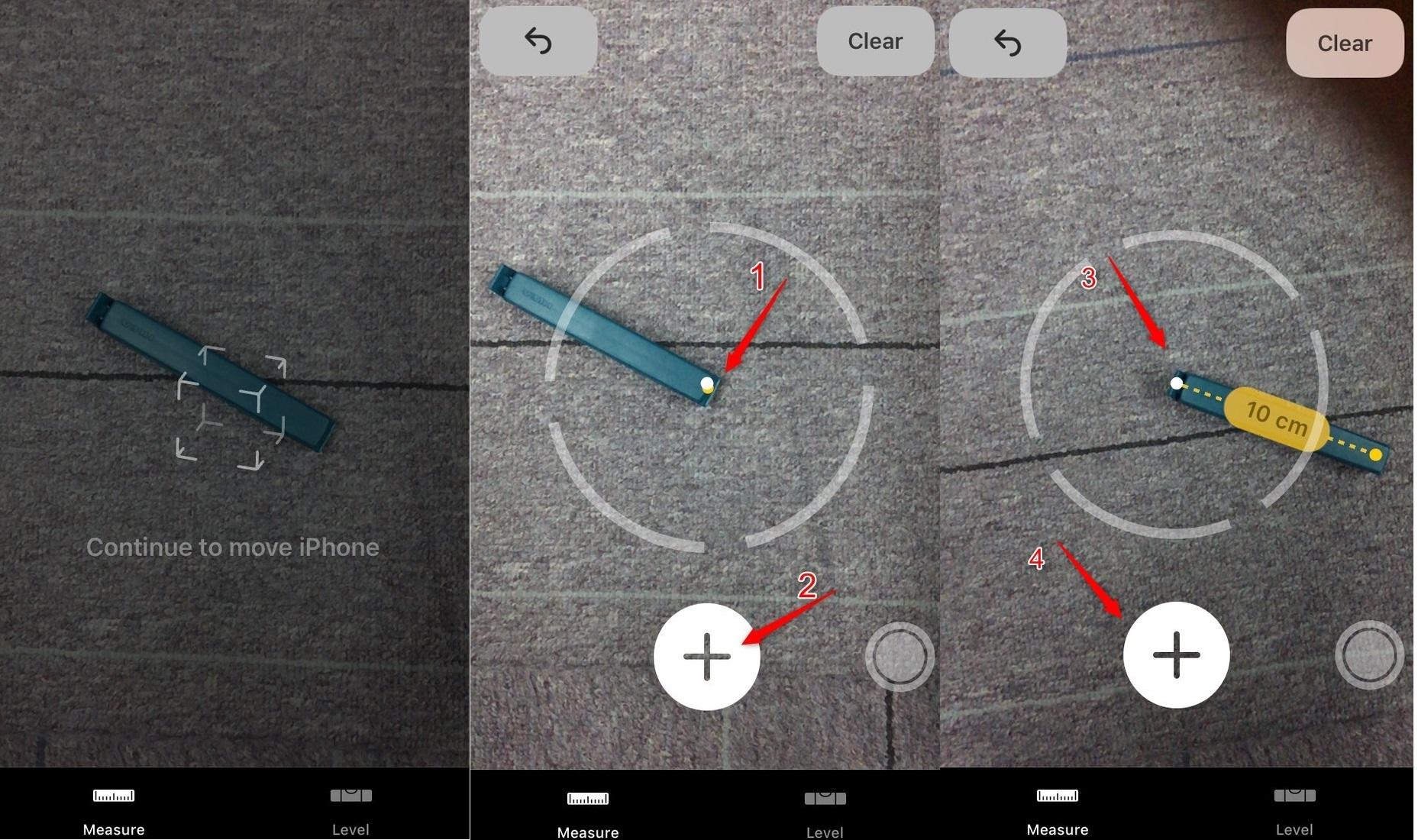 iOS 12 Maßband-App auf dem iPhone nutzen