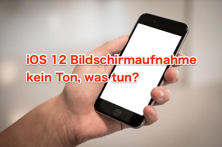 4 Tipps: iOS 12 Bildschirmaufnahme kein Ton beheben
