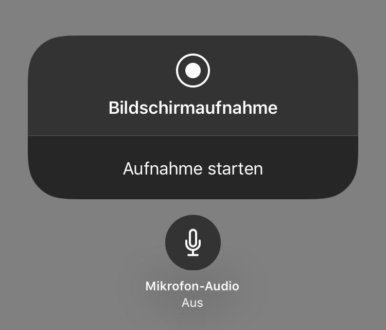 Bildschirmaufnahme iPhone ohne Ton - Mikrofon einschalten