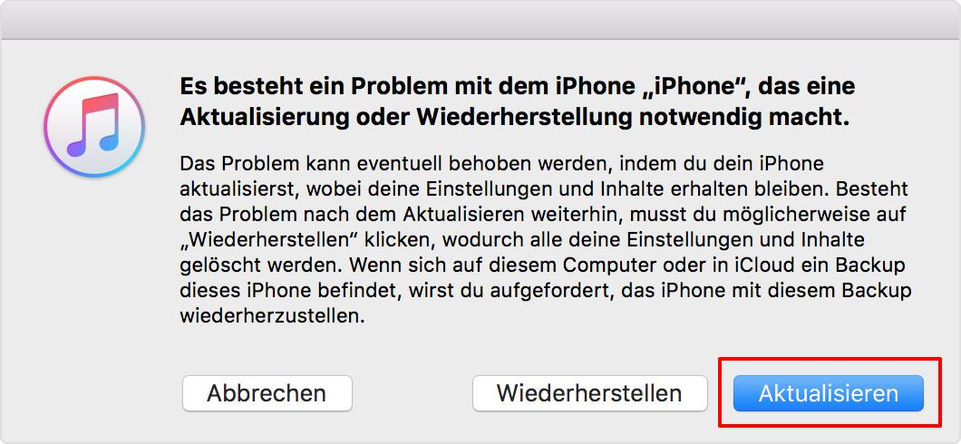 iPad aktualisieren nicht fixieren - Tipp 3