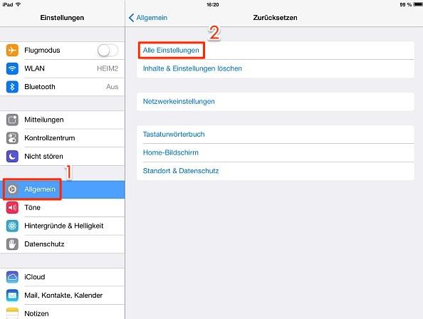 iPad Bildschirm dreht sich nicht mehr in iOS 11/11.3/11.4