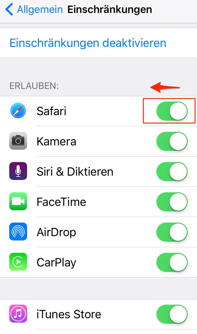 iPhone Apps mit Passwort schützen - Schritt 4