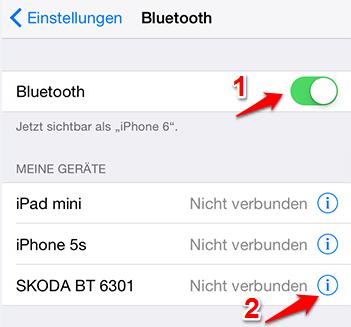 iphone bluetooth profile löschen