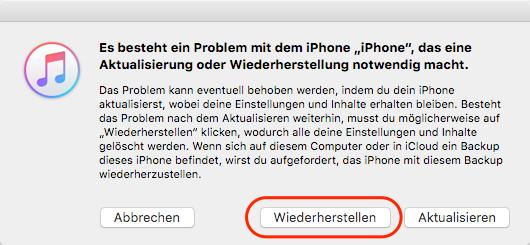 iPhone & iPad Code knacken - im Wiederherstellungsmodus