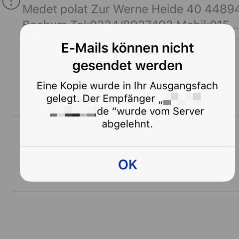 iPhone E-Mails können nicht gesendet werden