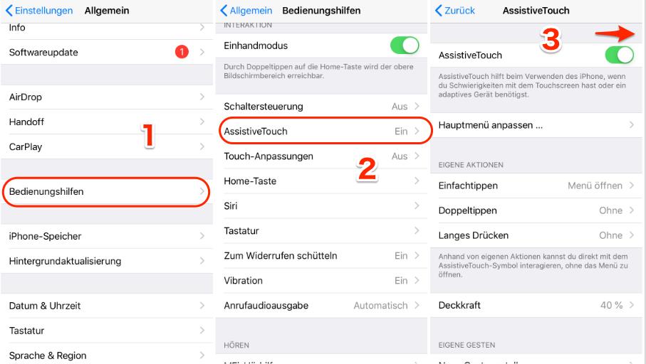 iPhone Home Button kaputt - AssistiveTouch verwenden