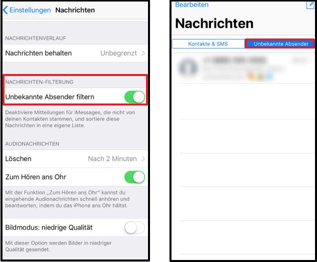 iMessage Spam von iPhone vermeiden