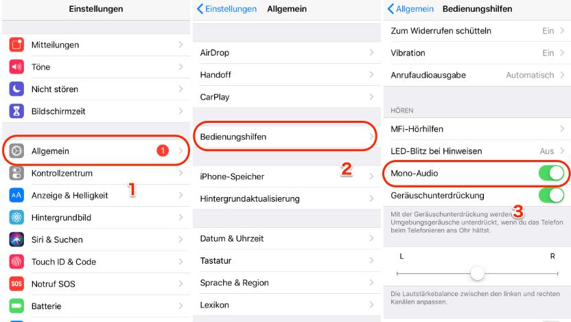 iPhone 6 Hörmuschel leise - Methode 1
