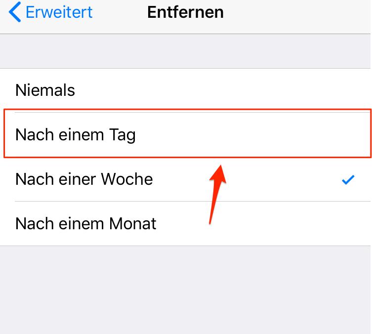iPhone Mails löschen geht nicht - Schritt 5