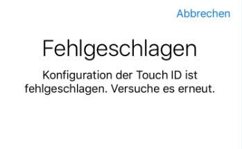 Touch ID fehlgeschlagen iPhone 6