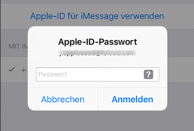 iPhone fragt ständig nach Passwort