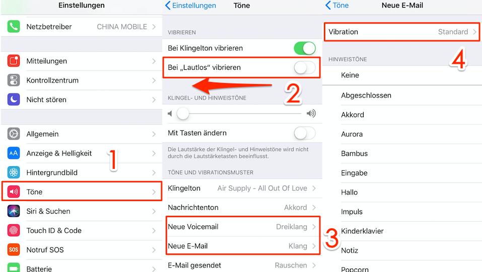 iPhone vibriert ohne Grund unter iOS 11/11.4 - Vibration zu deaktivieren
