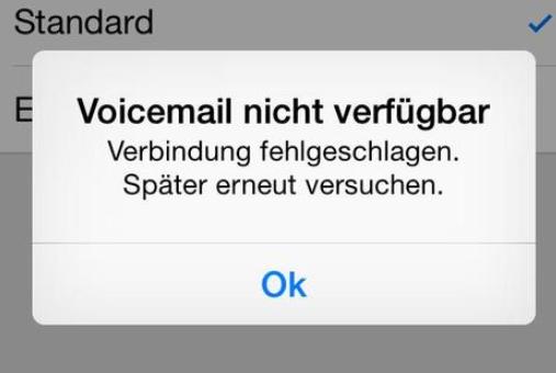 iPhone Voicemail nicht verfügbar