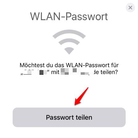 iPhone WLAN Passwort teilen und was tun