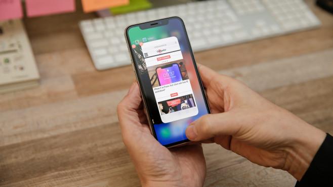 Wie kann man iPhone X Apps schließen