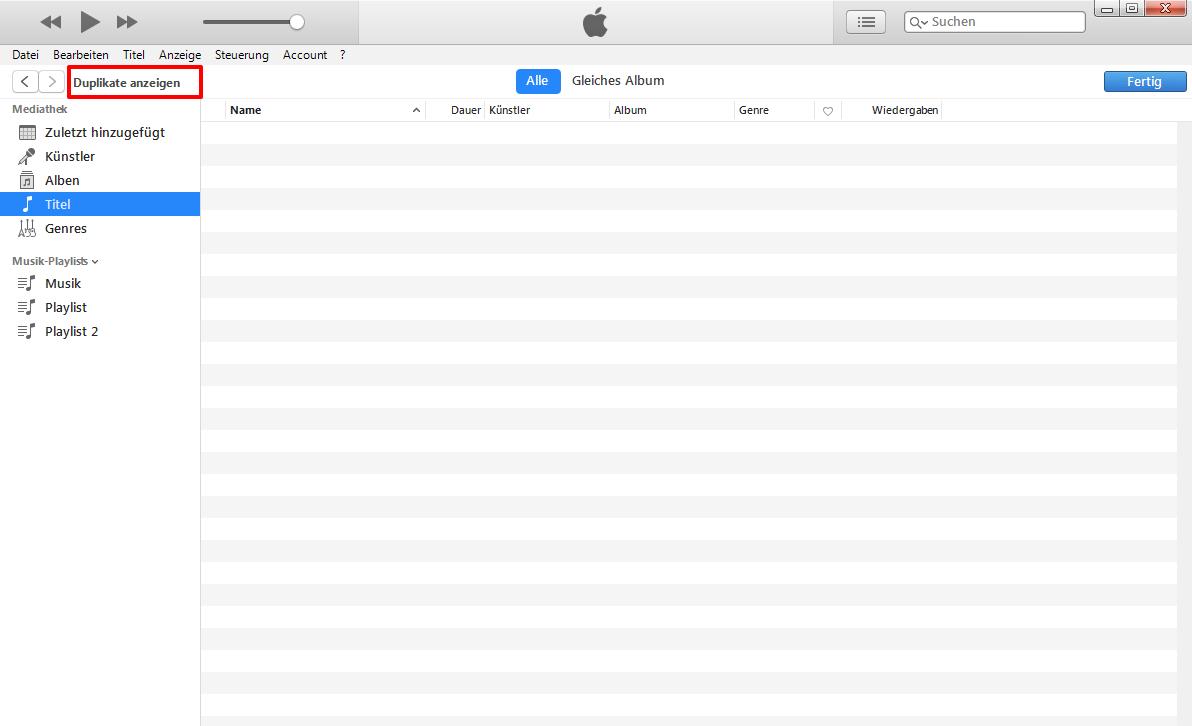 iTunes doppelte Titel löschen – so geht's
