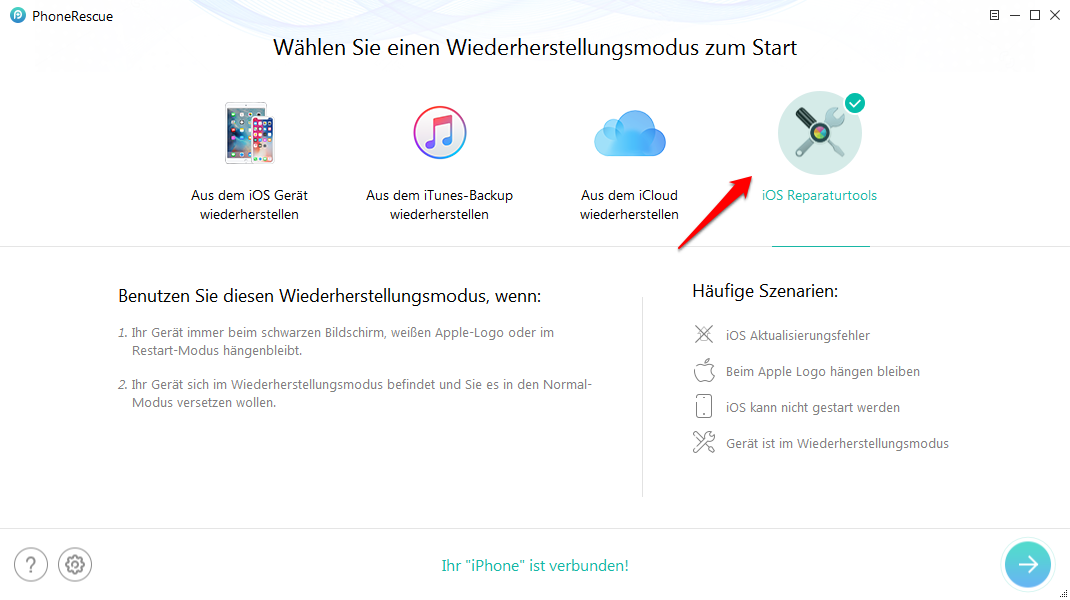 iTunes Fehler 4005 Reparaturtool