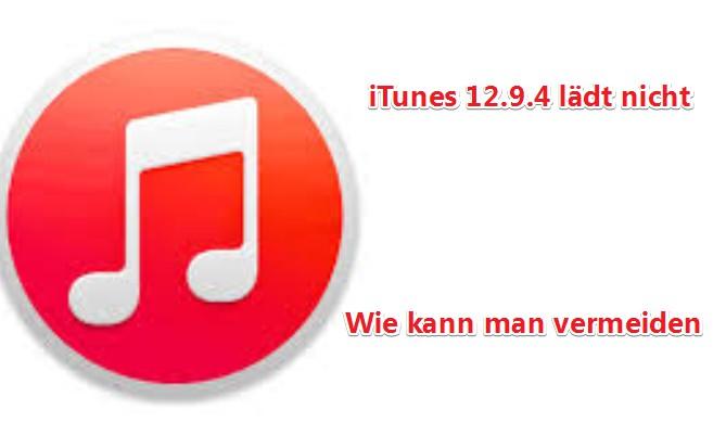 iTunes update lädt nicht