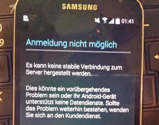 Keine Verbindung zum Server hergestellt werden auf Android