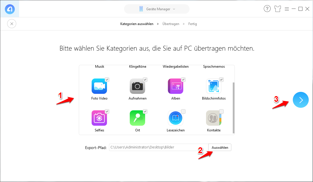 PC erkennt iPhone nicht – iPhone Fotos mit AnyTrans übertragen