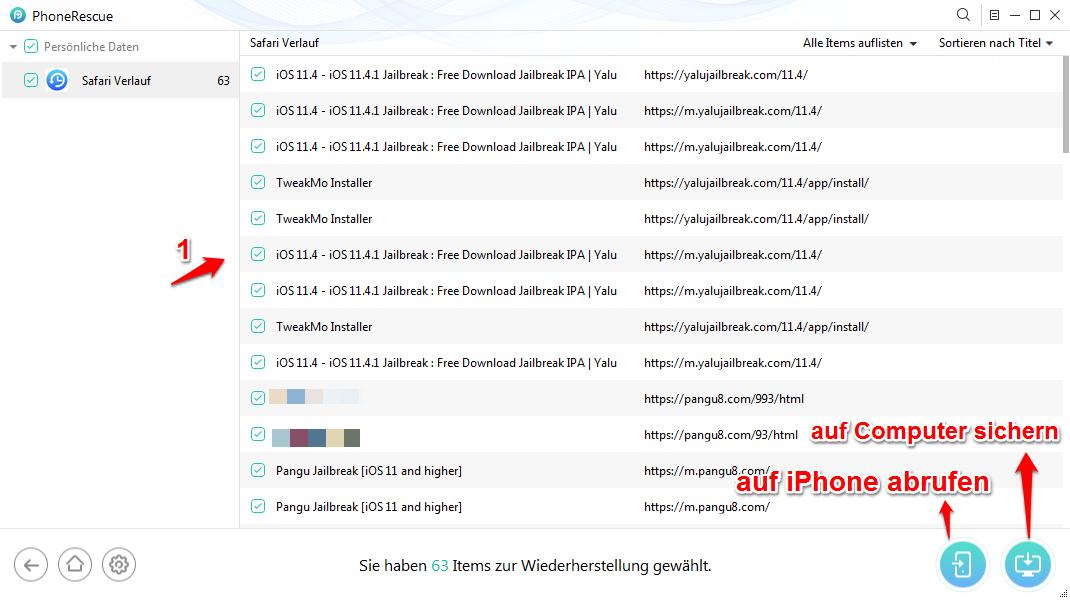 Safari Lesezeichen wiederherstellen – Mit PhoneRescue