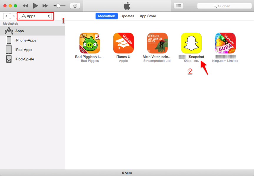 Altes Snapchat wieder auf iPhone bekommen – über iTunes