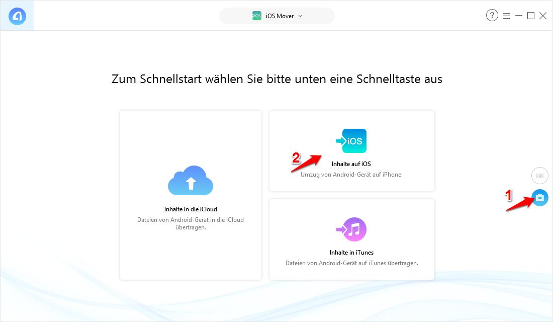 WhatsApp & Dateien von Android auf iOS/iPhone übertragen