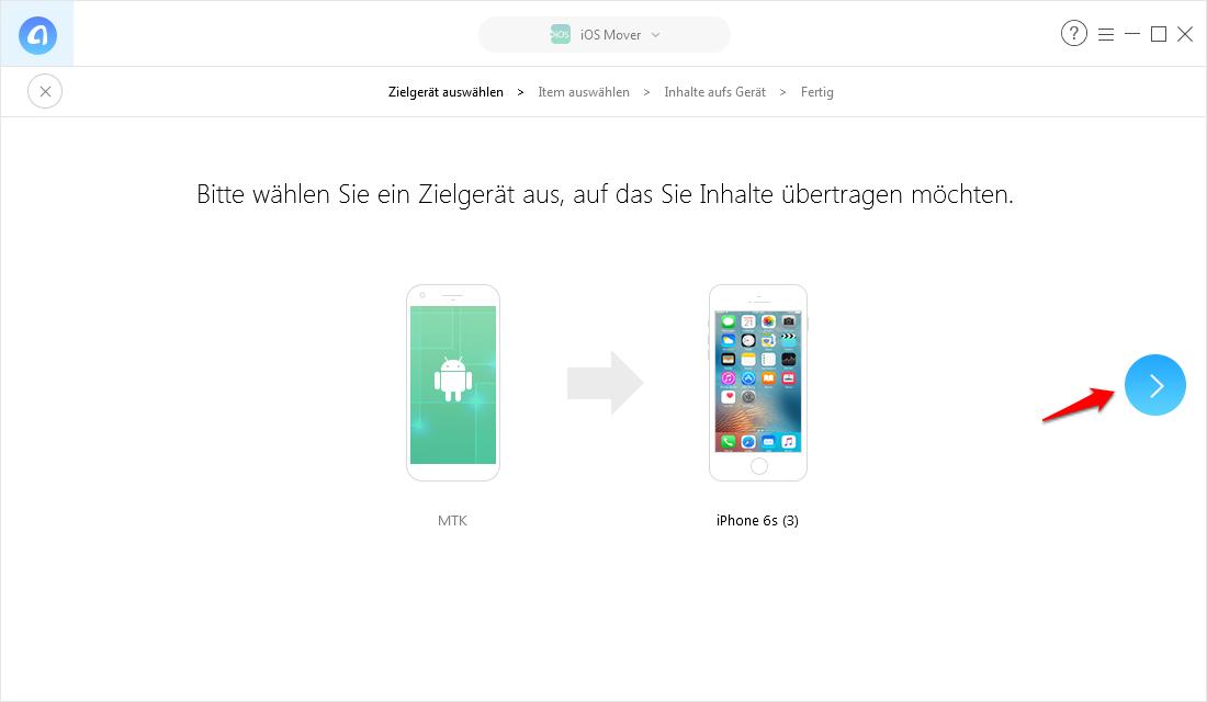 WhatsApp & Dateien von Android auf iPhone übertragen