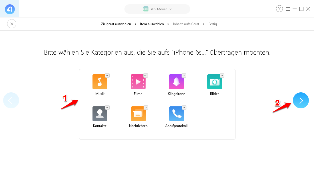 Android WhatsApp & Dateien auf iPhone übertragen