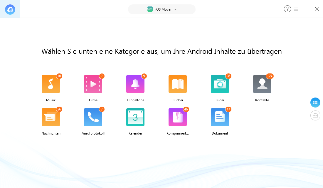 WhatsApp & Teilweise Dateien von Android auf iPhone übertragen