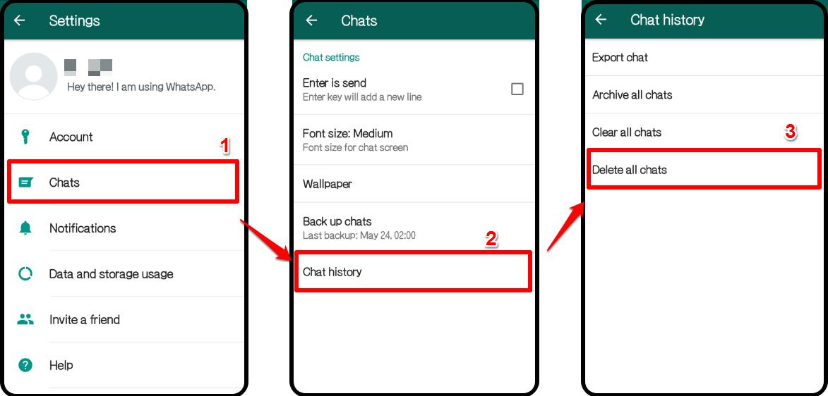 WhatsApp nicht genügend Speicherplatz - Schritt 3
