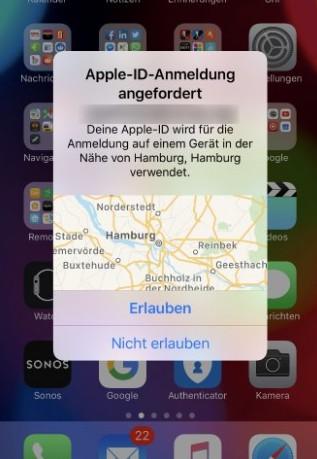 Zwei Faktor Authentifizierung Apple deaktivieren iPhone