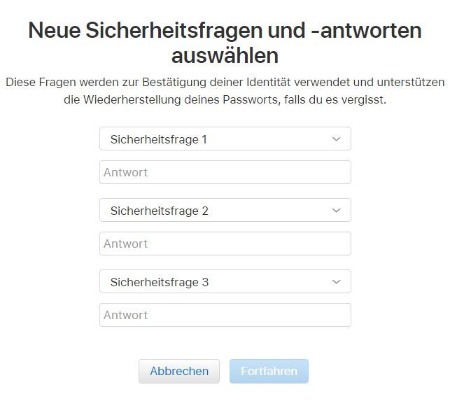 Zwei Faktor Authentifizierung deaktivieren iPhone