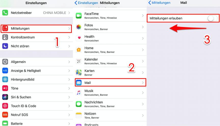 iPhone X/8/7/6 vibriert ohne Grund iOS 11/11.4 – Email-Mitteilungen entfernen