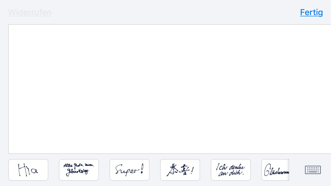 Wie kann man Handschrift in iMessage hinzufügen