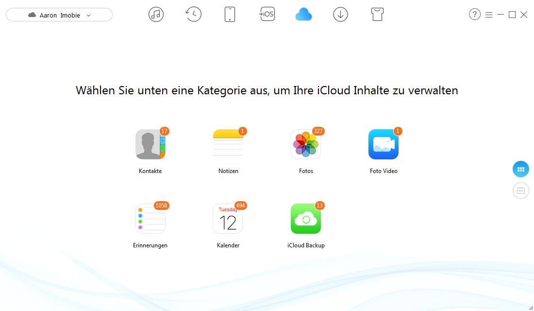 iCloud Backup kann nicht abgeschlossen werden – iCloud Inhalte zugreifen
