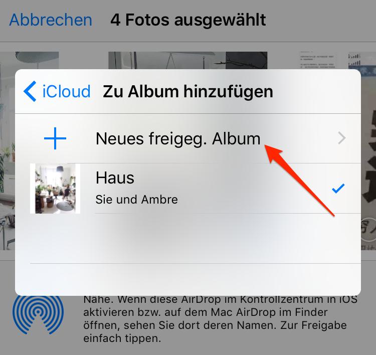 Neues Album hinzufügen - Schritt 3