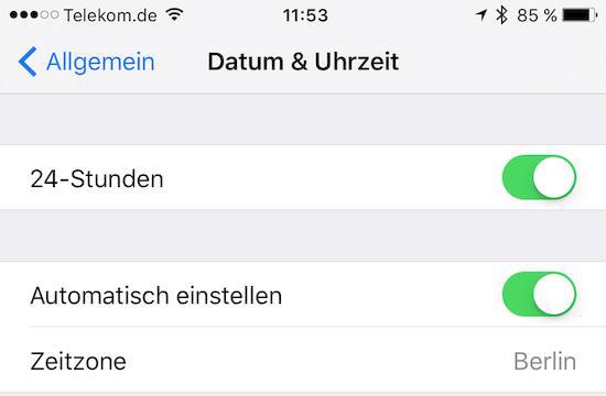 iCloud Kalender Synchronisieren nicht – Datum & Uhrzeit einstellen