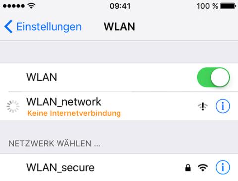 WLAN überprüfen: iCloud Kalender Synchronisieren nicht