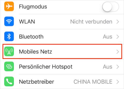 WLAN Assist auf dem iPhone/iPad deaktivieren – Schritt 2